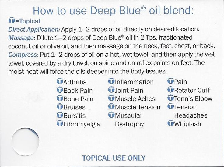 How to use Deep Blue oil blend | Where to buy essential oils: www.thepaleomama.com/essential-oils