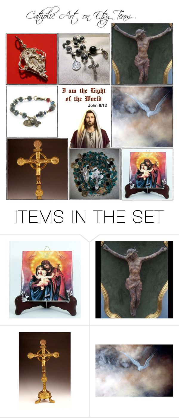 Religious Art on Etsy by TerryTiles2014 - Volume 182 by terrytiles2014 on Polyvore featuring arte, etsy, art, catholic and religious