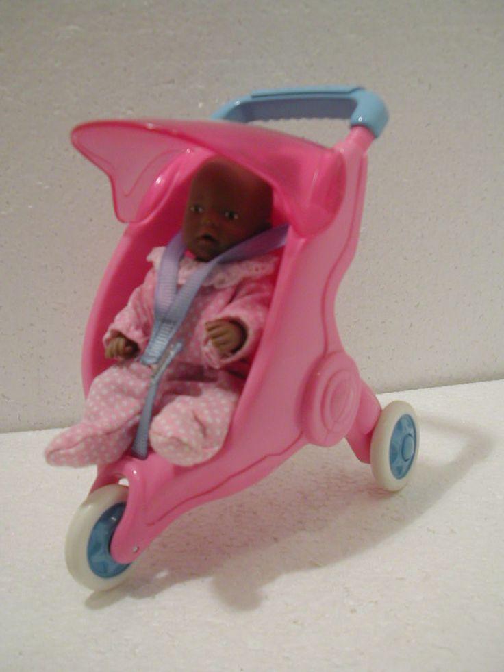 Baby Born Miniworld Jogger Puppenwagen mit Puppe dunkelhäutig