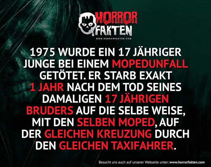 ❝Was für ein zufall❞ #horrorfakten