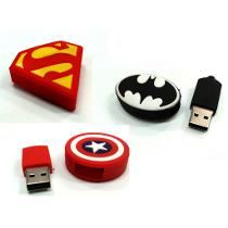 Pendrive Forma 8gb Animado Batman Superman Capitan America