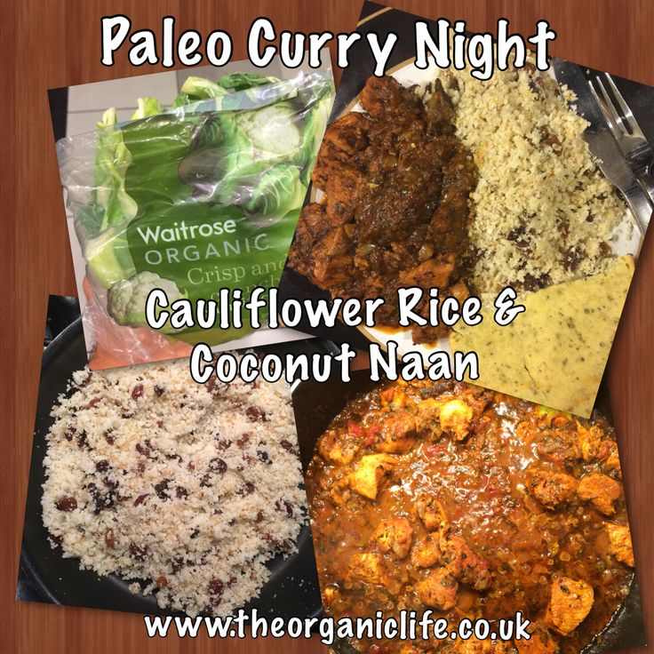 Mejores 11 imgenes de organic paleo food en pinterest alimentos paleo curry with cauliflower rice and paleo coconut flour naan bread a great weekend treat but so easy to make and tasty just like having the real just forumfinder Images