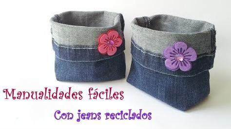 manualidades faciles hechas con jeanshttp://manualidades.facilisimo.com/blogs/mas-manualidades/como-hacer-canastas-con-jeans-de-forma-facil_1193586.html?aco=11vh&fba