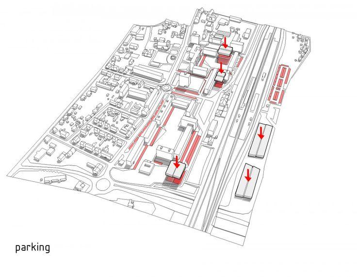 Parking Diagram - Das Band meiner Stadt (The Band of My City) Winning Proposal / da architecture