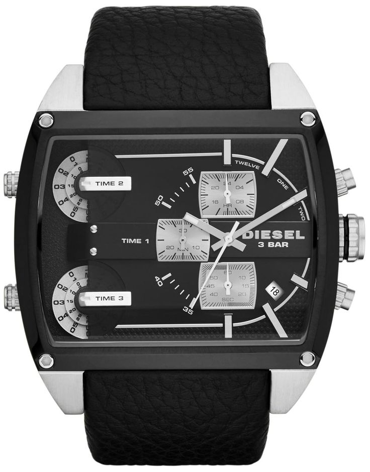 Mens-Diesel-DZ7326-Watch-Black-Leather-Chronograph-Date-1