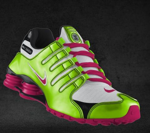 A slightly different take on the other NikeID shoe I posted - a little more pink in the shox - LOVE
