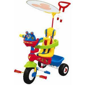 """Kiddieland """"Микки Маус"""" (KID 047464)  — 8183р. ----------------- Пол ребенка унисекс  Цвет синий  Материал пластик/железо    Возраст ребенка От 1 года  Дополнительная информация  Трёхколёсный велосипед с изображением Микки Мауса станет отличным подарком для ребёнка на любой праздник. У него есть родительская ручка, которая управляет передним колесом, а для безопасности малыша специальный барьер и фиксированные ремешки, сиденье имеет высокую спинку, есть подножка, для того чтобы ребенок…"""