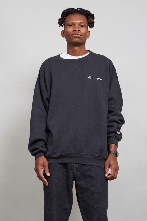 80's vintage oversized black Champion sweater