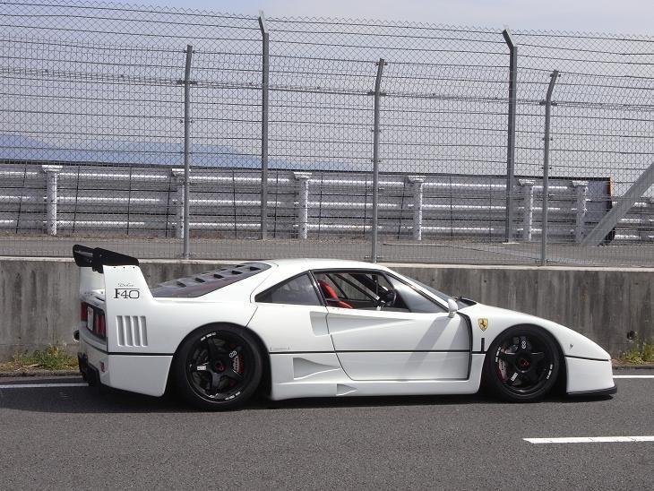 White Ferrari F40 LM