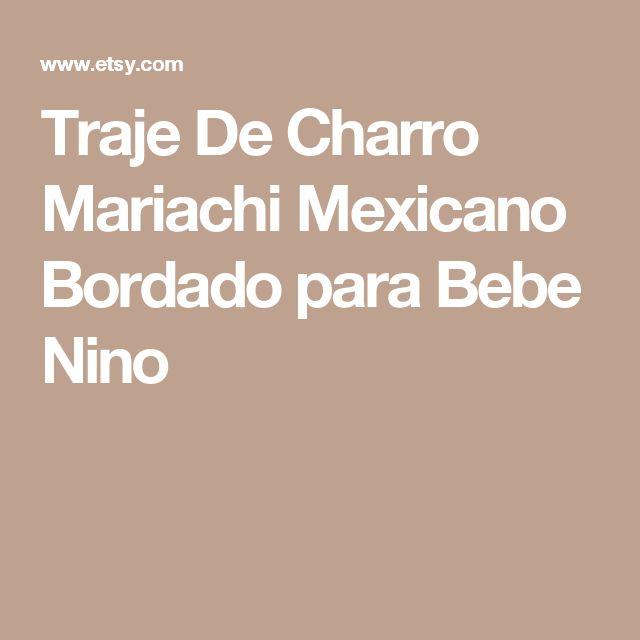 Traje De Charro Mariachi Mexicano Bordado para Bebe Nino