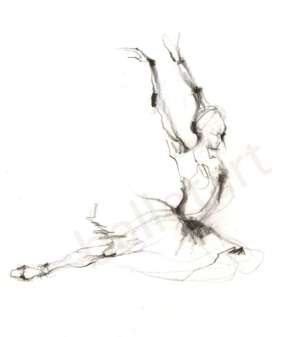 Ballet Art Swan Lover hand drawing art print dance by BalletArt