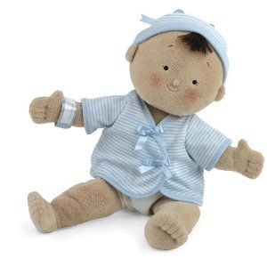 """North American Bear Company Rosy Cheeks Baby Tan Boy by North American Bear Co., Inc.. $21.12. Surface washable 15"""" soft doll with embroidered face. Lifelike outie belly button and bottom. An adorable keepsake sibling gift to welcome a new baby home. Winner of Top Tips Trusted and Creative Child Magazine awards. Removable jersey top and diaper. From the Manufacturer                Rosy Cheeks Baby is 15"""" tall and made of soft velour with embroidered facial features, removable ..."""