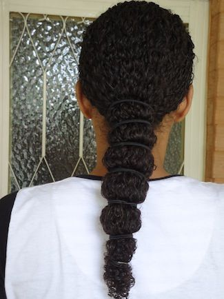 banded ponytail- To learn how to grow your hair longer click here - http://www.shorthaircutsforblackwomen.com/the-max-hydration-method-complete-natural-hair-tutorial/