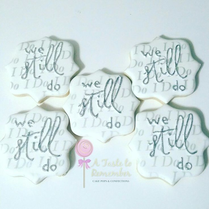 We still do anniversary sugar cookies in silver and white