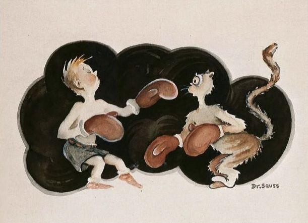 'The Manly Art of Self-Defense,' 1927, TM & © 1995 Dr. Seuss Enterprises (The Secret Art of Dr. Seuss)