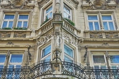 Old building facade in Bratislava, Slovakia