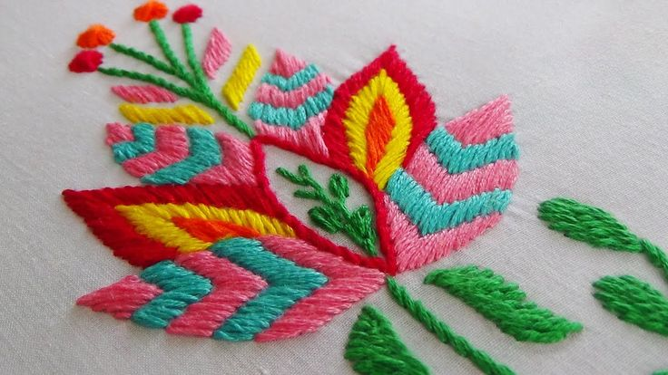 Hand Embroidery: Phulkari Stitch Variation