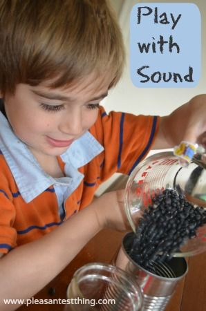 "Playing with sound - great inquiry for science center or small group along with a ""I Notice/I Wonder"" chart."