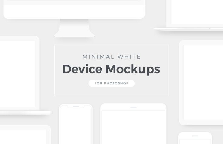Free Minimal White Device Mockups Free Mockup Mockup Mockup Design