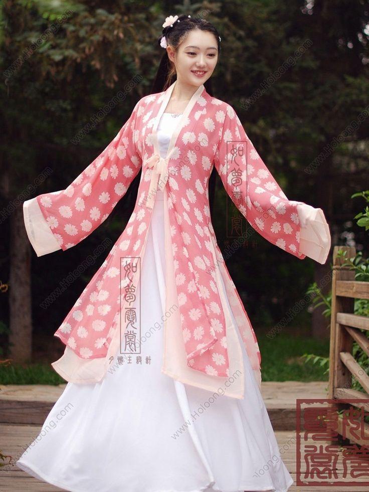 Women's Chiffon BeiZi Shang Dynasty Hanfu Clothing