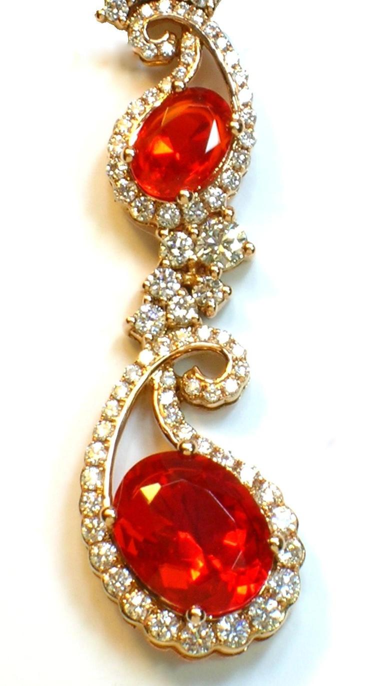 Detail Of Levian Fire Opal And Diamond Neckpiece Screen
