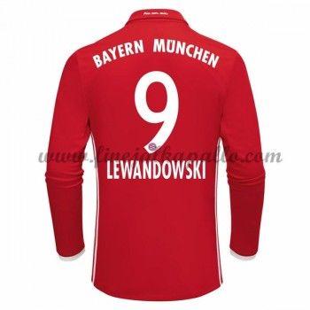 Jalkapallo Pelipaidat Bayern Munich 2016-17 Lewandowski 9 Kotipaita Pitkähihainen