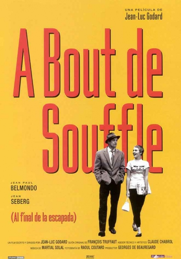 A Bout de Souffle / Jean-Luc Godard. Haven't seen Jean-Luc Godard's classic French New-Wave film? Check it out today! http://www.more.lib.wi.us/search~S43?/tBreathless/tbreathless/1%2C12%2C44%2CB/frameset=tbreathless+motion+picture1%2C1%2C