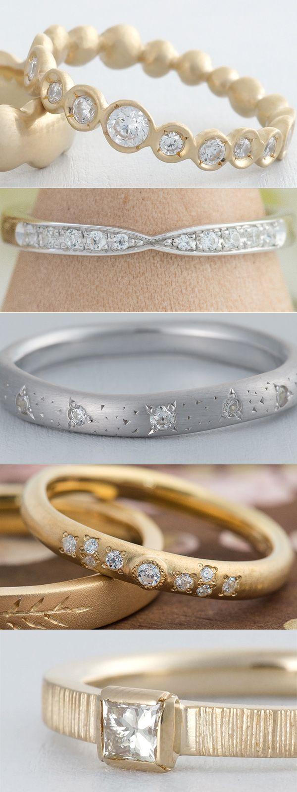 ithのマリッジリング。 石の留め方で印象も変わりますね✴︎  結婚指輪 marriage wedding ring diamond ダイヤモンド gold