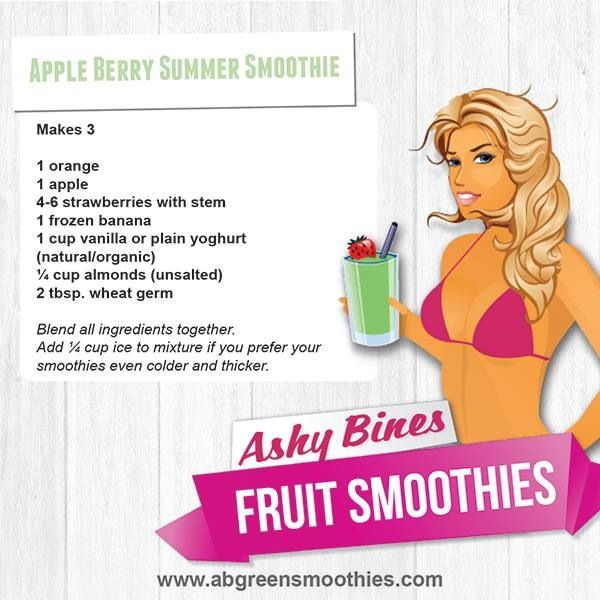 Ashy Bines clean eating diet smoothie!