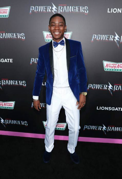 RJ Cyler at the LA Premiere of Power Rangers in March 2017...