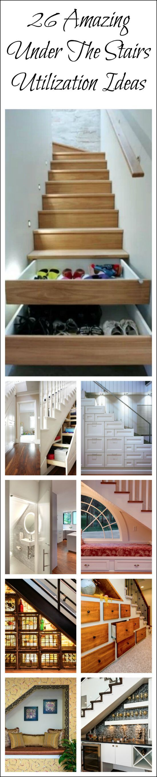 What brilliant use of otherwise wasted space. I love how much storage you can get. A must see! .........Popular Pins!
