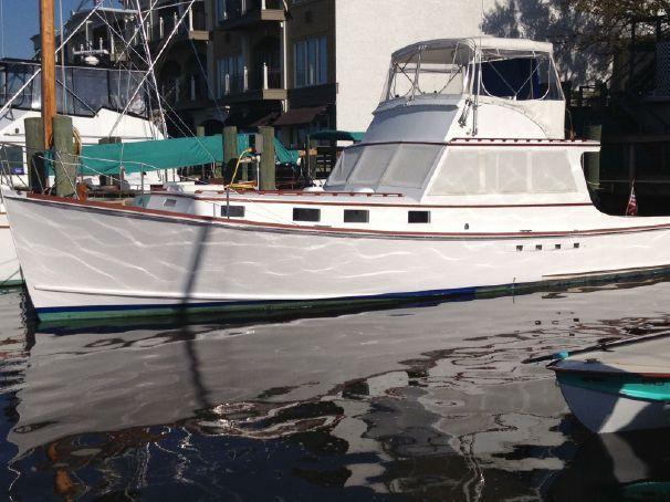 $159,000 - 1967 Custom Kenneth L. Smith Downeast Yacht Flybridge Lobster Yacht Power Boat ...