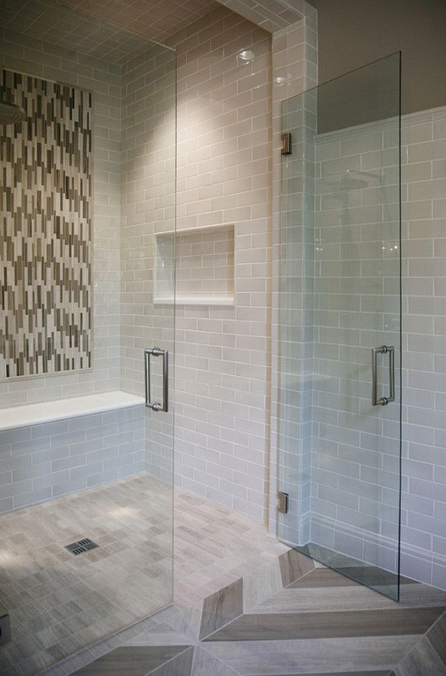Star Tribeca 3 X 9 Bossy Gray Shower Wall Tiles Limestone Chenille White 6 Bathroom Wall