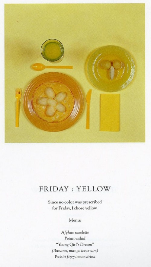 Diet chromatic by Sophie Calle