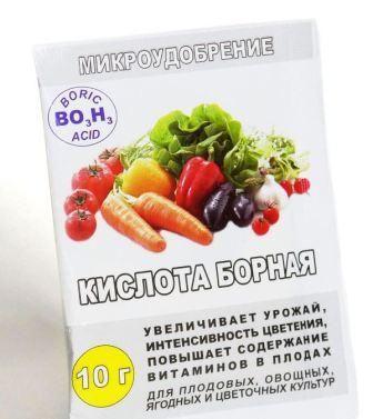 Борная кислота для помидоров и огурцов. Опрыскивание