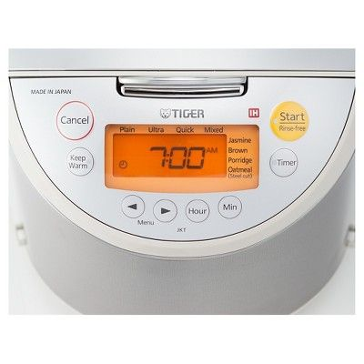 Tiger 10 Cup Induction Heating Rice Cooker, Milestone Beige