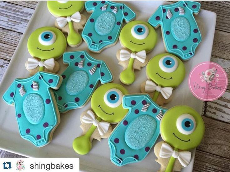 Monsteru0027s Inc. Baby Shower Cookies