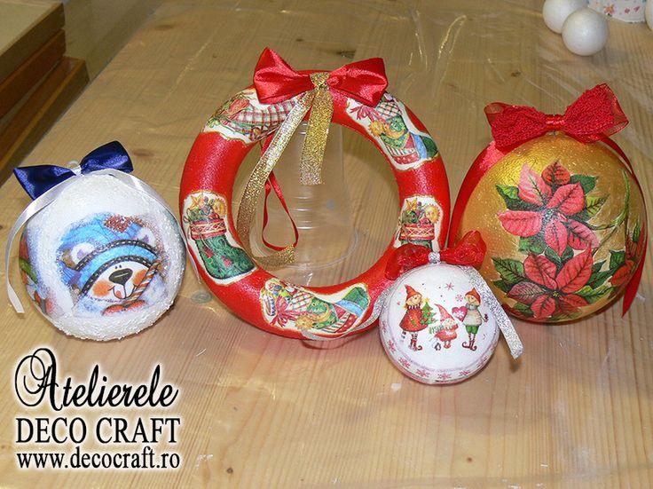 Minunate decoratiuni de Craciun, realizate de maini dibace la Atelierul de creatie Deco Craft® - Tehnica servetelului pe polistiren - Decoratiuni de Craciun. Servetele de Iarna si de Craciun si Anul nou: http://www.decocraft.ro/en/servetele-de-iarna http://www.decocraft.ro/en/servetele-craciun-anul-nou