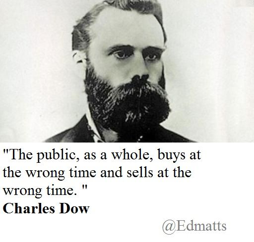I love this Charles Dow quote: