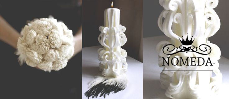Nomeda Luxury Handmade Carved Wedding Candles