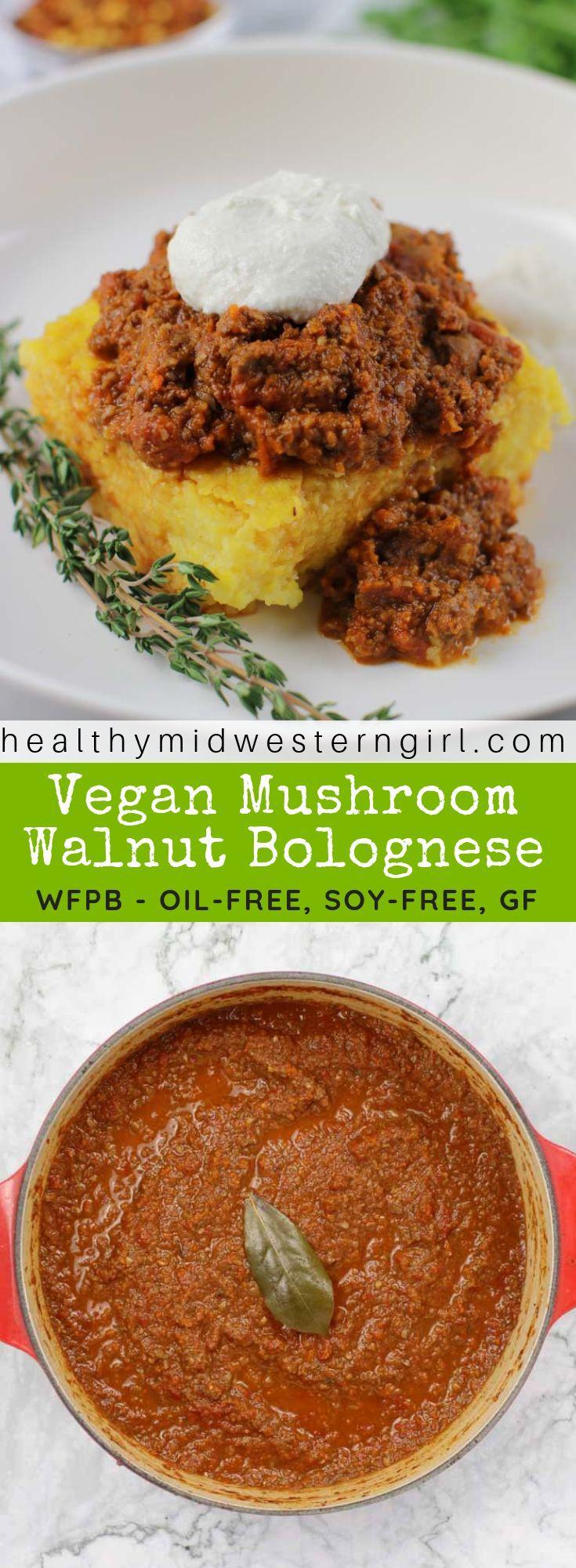 Vegan Mushroom Walnut Bolognese