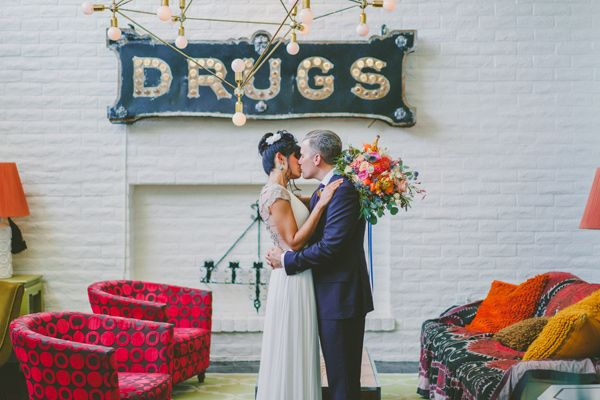 vibrant eclectic wedding in Palm Springs - photo by Brian Evans Photography http://ruffledblog.com/vibrant-eclectic-wedding-in-palm-springs