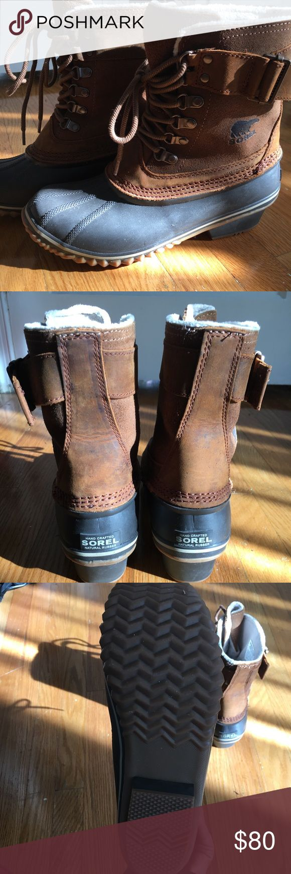 Sorel Women's Winter Fancy Lace Up II Boot Sorel winter boots just in time for the snow! I've worn these 3 times only! They are a size 7.5 but fit like a 6.5 with socks. Sorel Shoes Winter & Rain Boots