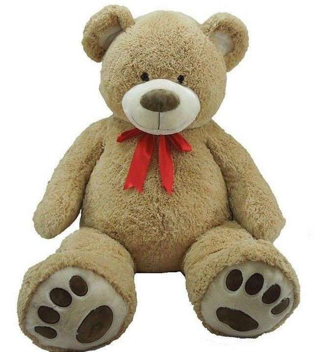 """❤HUGE 59"""" Teddy Bear with Ribbon❤Giant Plush Stuffed Bear~Valentine's Day Gift ❤ #Doesnotapply #ValentinesDay"""