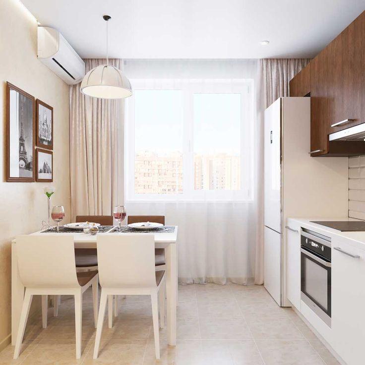 Современная кухня 8 метров. Новинка 2016 года Дизайн кухни 8 кв. м. в стиле минимализм. Фото проекта Кухня 8 метров фото…