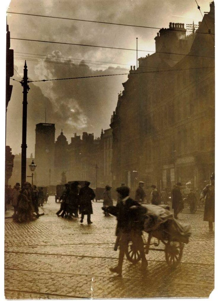 Storm passing over St Ann's Sq, Manchester...............1921