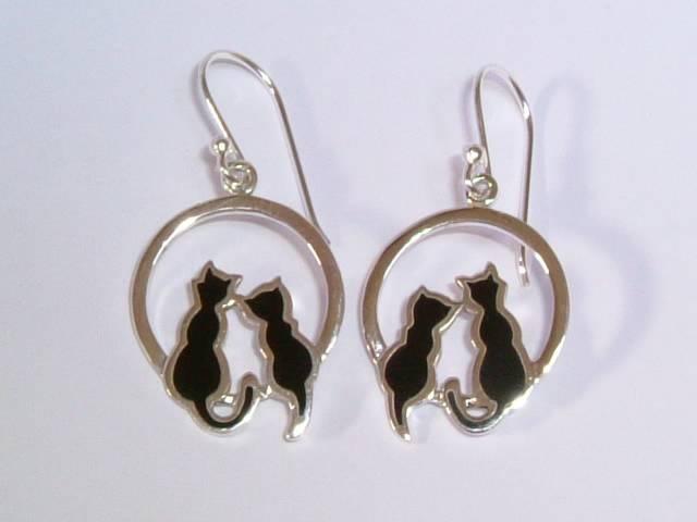 Black Cat Hoop Cat Earrings £26.99