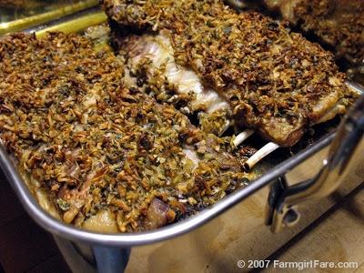 Farmgirl Fare: How To Cook Lamb: Onion & Herb Crusted Lamb Spareribs Recipe & Grilled Lamb Leg Steaks