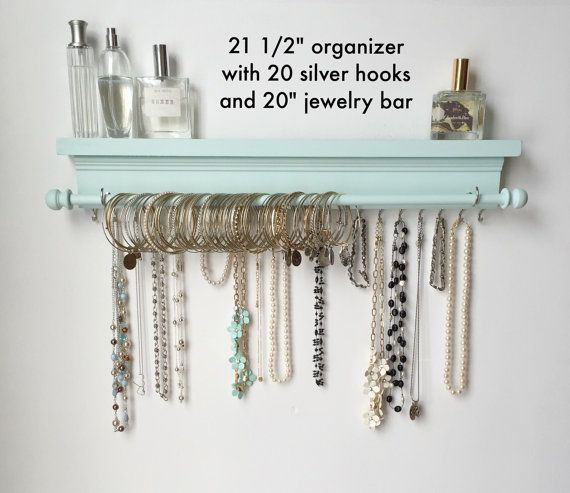 Jewelry Organizer  Hanging Jewelry Organizer  by TimberRidgeShop