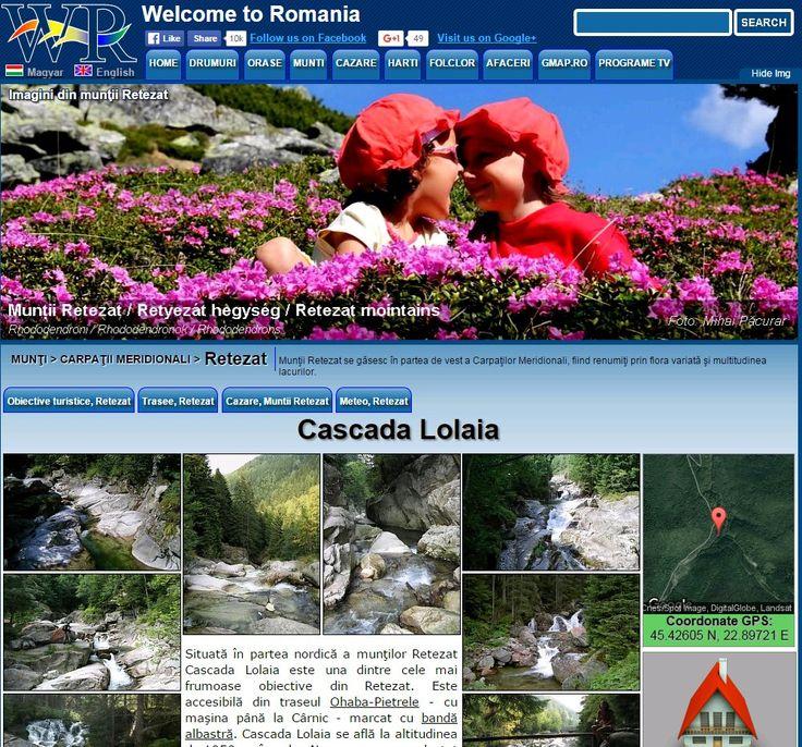 Lolaia waterfall in  Retezat Mountains http://www.welcometoromania.ro/Retezat/Retezat_Cascada_Lolaia_r.htm